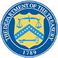 The Department of the Treasury Logo